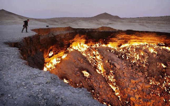 Las puertas del infierno están en Turkmenistán