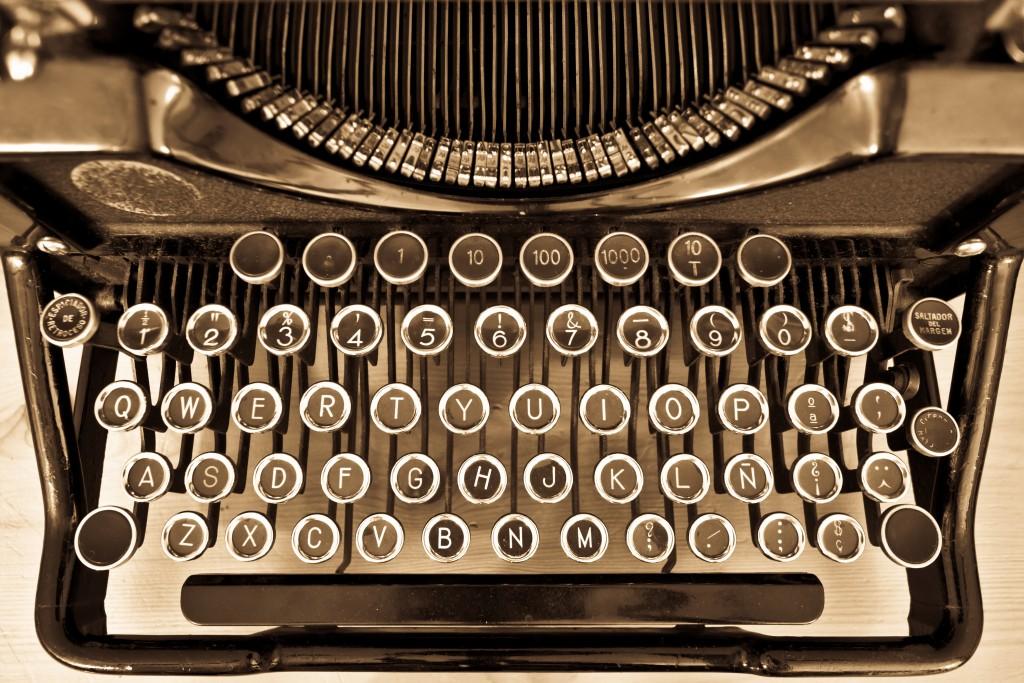curiosidades de las máquinas de escribir