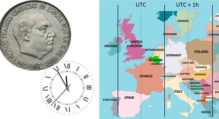 España-siglo XX-horario alemania